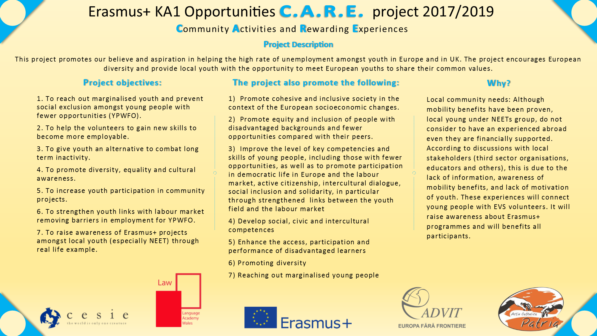 CARE erasmus+ KA1 project Cardiff