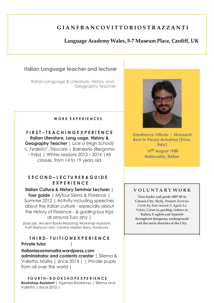 italian tutor cv 1